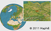 Satellite Location Map of Žlutice
