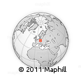 Outline Map of Žlutice, rectangular outline