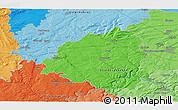 Political 3D Map of Libušín