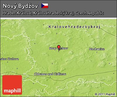 Novy Bydzov Map Physical 3d Map of Nov Byd ov