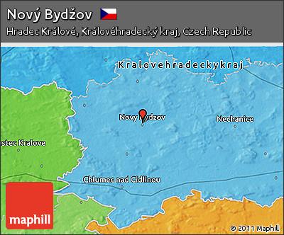 Novy Bydzov Map Political 3d Map of Nov