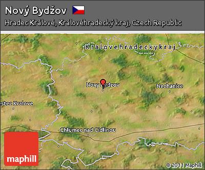 Novy Bydzov Map Satellite 3d Map of Nov
