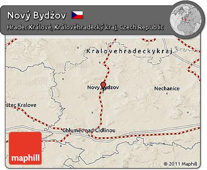 Novy Bydzov Map 3d Map of Nov Byd ov