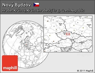 Novy Bydzov Map Blank Location Map of Nov