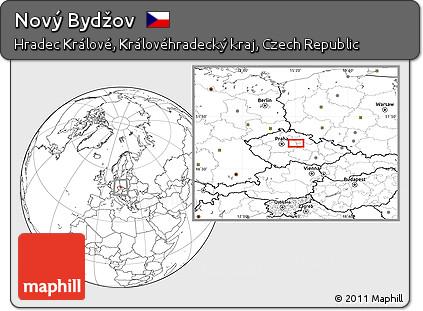 Novy Bydzov Map Map of Nov Byd ov