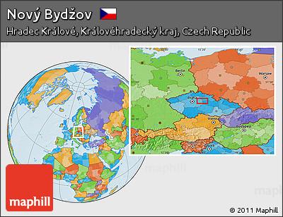 Novy Bydzov Map Political Location Map of Nov