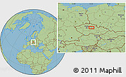 Savanna Style Location Map of Nový Bydžov