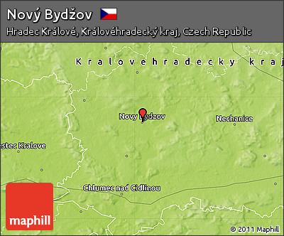 Novy Bydzov Map Physical Map of Nov Byd ov