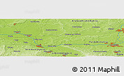 Physical Panoramic Map of Nymburk