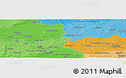 Political Panoramic Map of Nový Bydžov