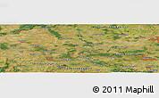Satellite Panoramic Map of Nový Bydžov