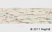 Shaded Relief Panoramic Map of Nový Bydžov