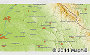 """Physical 3D Map of the area around 50°7'47""""N,16°13'30""""E"""