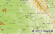 """Physical Map of the area around 50°7'47""""N,16°13'30""""E"""