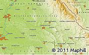 Physical Map of Hradec Králové