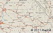 Shaded Relief Map of Hradec Králové