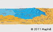 Political Panoramic Map of Hradec Králové