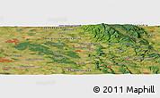 Satellite Panoramic Map of Hradec Králové