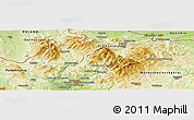 """Physical Panoramic Map of the area around 50°7'47""""N,17°4'30""""E"""
