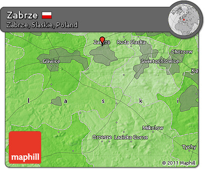 Free Political Map Of Zabrze - Zabrze map