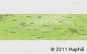 """Physical Panoramic Map of the area around 50°7'47""""N,19°37'30""""E"""