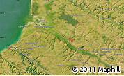 "Satellite Map of the area around 50°7'47""N,1°46'29""E"