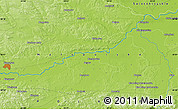 """Physical Map of the area around 50°7'47""""N,20°28'30""""E"""