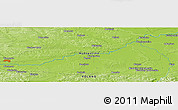 """Physical Panoramic Map of the area around 50°7'47""""N,20°28'30""""E"""