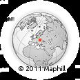 Outline Map of Radawa, rectangular outline