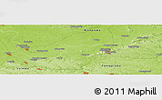"Physical Panoramic Map of the area around 50° 7' 47"" N, 25° 34' 30"" E"