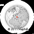 Outline Map of Izyaslav, rectangular outline