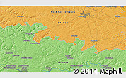 """Political 3D Map of the area around 50°7'47""""N,2°37'30""""E"""