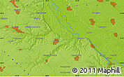 """Physical Map of the area around 50°7'47""""N,30°40'29""""E"""