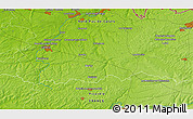 """Physical 3D Map of the area around 50°7'47""""N,3°28'30""""E"""