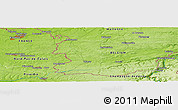 Physical Panoramic Map of Couvin