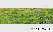 Satellite Panoramic Map of Mettet