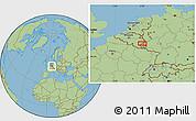 "Savanna Style Location Map of the area around 50°7'47""N,6°1'30""E"