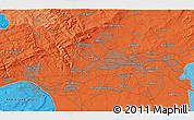 Political 3D Map of Wiesbaden
