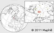 Blank Location Map of Wiesbaden