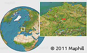 Satellite Location Map of Wiesbaden