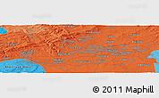 Political Panoramic Map of Budenheim
