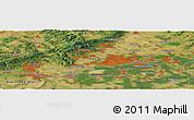 Satellite Panoramic Map of Wiesbaden