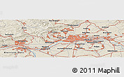 Shaded Relief Panoramic Map of Wiesbaden