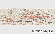 Shaded Relief Panoramic Map of Budenheim