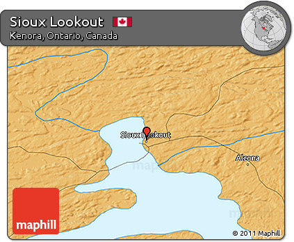 Free Political 3D Map of Sioux Lookout