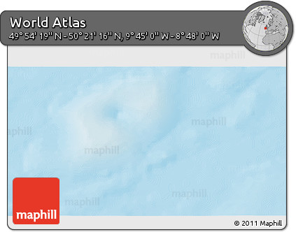 """Shaded Relief 3D Map of the Area around 50°7'47""""N,9°16'30""""W"""