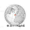 """Outline Map of the Area around 50° 31' 50"""" N, 10° 58' 29"""" W, rectangular outline"""
