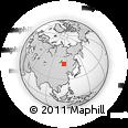 Outline Map of Khoylasty, rectangular outline