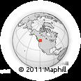 Outline Map of Salmon Arm, rectangular outline