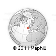 """Outline Map of the Area around 50° 31' 50"""" N, 11° 49' 29"""" W, rectangular outline"""